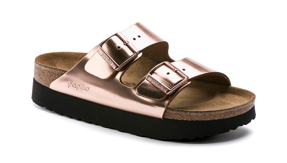 Sandalias Papilio Arizona Platform NL Metallic Copper