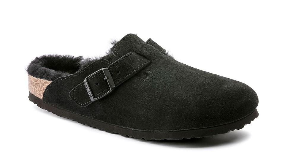 Zuecos Birkenstock Boston Fur VL Black