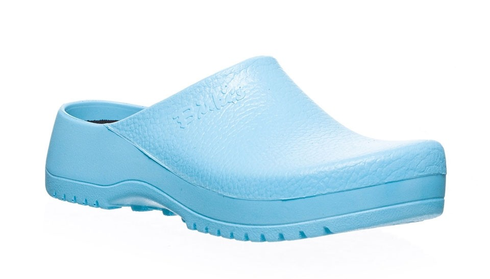 Zuecos Birkenstock Super-Birki PU Blue Light