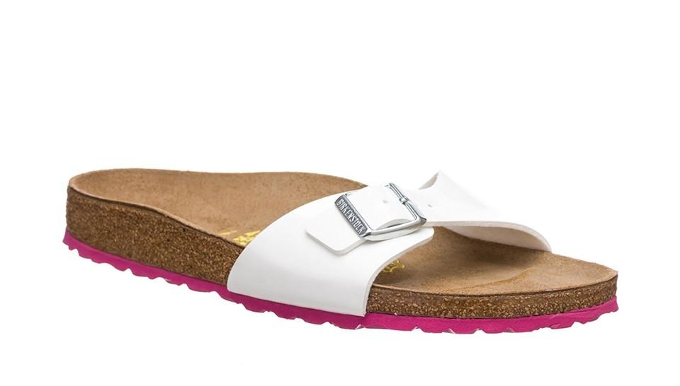 Paquete o empaquetar Zumbido Amplificar  Sandalias mujer Birkenstock Madrid Birko-Flor Patent White LS Pink  Birkenstock